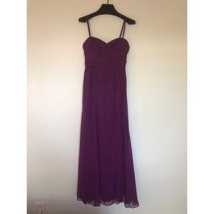 Ralph Lauren Plum Chiffon Evening Gown
